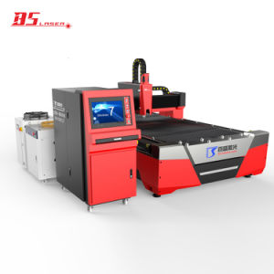 Pequena área de ocupação de Fibras Metálicas CNC máquina de corte a laser com mesa de corte único