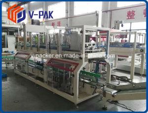 Auto/caja de cartón máquina de llenado de botellas de agua de la máquina paquete plano