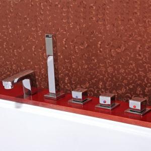 Bañera de masaje con madera (TLP-667 falda falda de madera)