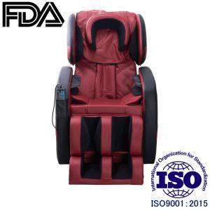Negro y rojo 3D L vía sillón de masaje