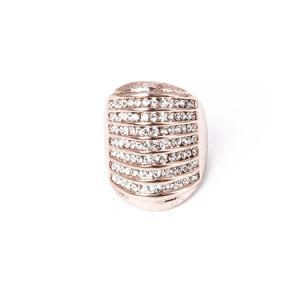 ラインストーンが付いている新しいモデルの方法宝石類の銀の中心のリング