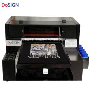デジタルは衣服DTGの販売のための黒いTシャツプリンターに指示する