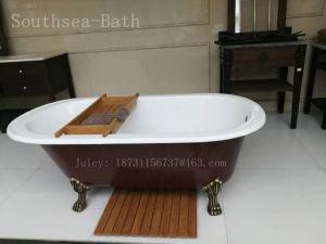 ロール上の鋳鉄のたらいの販売のための贅沢な鋳鉄の浴槽の中国の浴槽