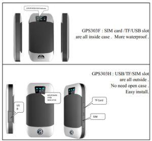 GPS Rastreador veicular GPS303 suportam corte do motor através do software aplicativo Ios Android