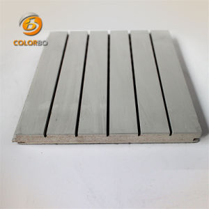 La madera de madera ranurado Non-Irritating panel acústico para la práctica habitación