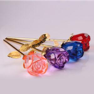 Regalo de San Valentín personalizados y regalos de boda flor rosa de cristal