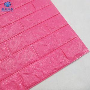 Blanca Rosa PE Paneles de pared de ladrillo de 3D 3D de papel tapiz de pared de espuma de adhesivos para la decoración del hogar