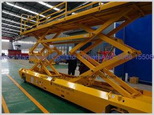 De gemotoriseerde Dubbele die Lift van de Schaar voor het Platform van de Lift van de Mens van de Lading van de Verkoop 1t wordt aangepast