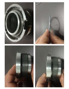 Joint cryogéniques, gaz sec de métal pour remplacer le joint à soufflets Cryo-Mach