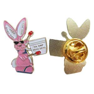 方法装身具の蝶クラッチ(043)とのカスタムかわいいウサギの金属のLaple Pin