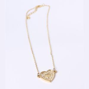 個人化された方法宝石類のハート形の銀製の吊り下げ式のネックレス