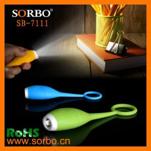 Promoção barata mini USB de Silicone Lanterna Recarregável