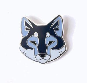 漫画の金属のエナメルカスタムPinのオオカミの形の折りえりピン