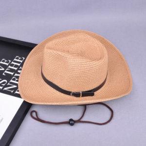 Sol de verano de cadena de sombrero de paja de papel barato sombreros  vaqueros para hombres be991fa18bd