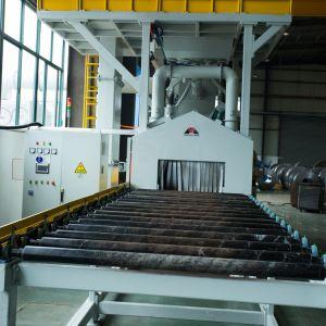 Steel Plate及びH Beam Horizontal Surface Cleaning Shot Blasting MachineのためのほこりのないThrough Type Roller Conveyor Shot Blasting Machine