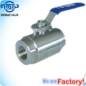 Wb-14 valvola a sfera ad alta pressione dell'acciaio inossidabile 2PC