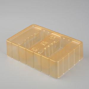 卸し売り明確なプラスチックPP/Petパンか菓子器(食糧荷箱)
