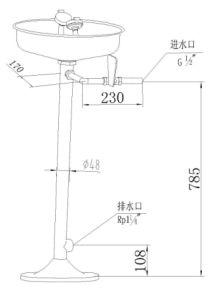 Combinaison de l'oeil en acier inoxydable de la rondelle (WJH0359)