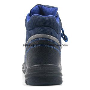 Tiempo de trabajo barato de cuero auténtico Zapatos de seguridad