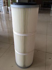 Cartucho de filtro de polvo de pliegues del cilindro