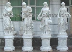Estatua de piedra de talla de Escultura de Mármol para la decoración de jardín (SY-X1760)