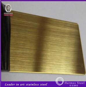 304 316 201本のブラシのヘアライン金の終わりのステンレス鋼シート
