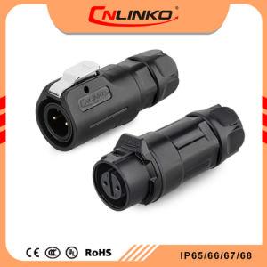 Cnlinko 2pinの電気コネクタの適度なパネルによって取付けられる耐候性があるソケットLEDのコネクターケーブルの価格