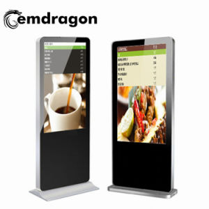 LCD 광고 선수 USB SD 카드를 가진 전시 선수를 광고하는 잡지 상자와 LED를 가진 선수 광고 서 있는 전기 용량 32 인치 지면