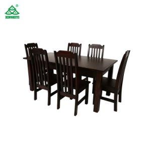 Custom Mobiliário moderno cadeiras de mesa da sala de jantar mesa de jantar em madeira definido