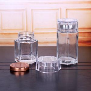 Fabrik-direkte Glasflasche für Gesundheitspflege-Produkt mit Plastikschutzkappe