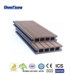 Pavimentazione laminata di plastica di legno costruita del composto WPC di Decking esterno dell'impiallacciatura