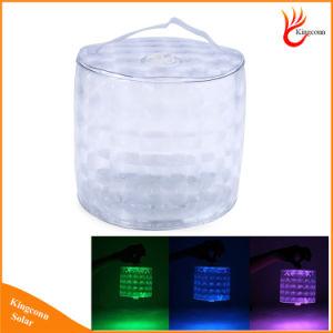 Для использования вне помещений на солнечной энергии 10 RGB светодиодные индикаторы Color-Changing надувные аккумулятор в лагере солнечной энергии на батареях