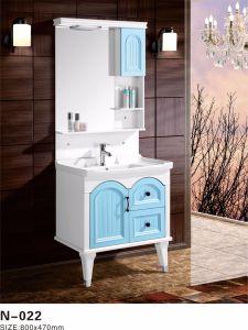 De moderne Ijdelheid van het Kabinet van de Waren van het Meubilair van de Badkamers van pvc Sanitaire met de Status van de Vloer