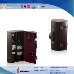 Contenitore di vino delle due bottiglie con visualizzazione Windows (5552R4)