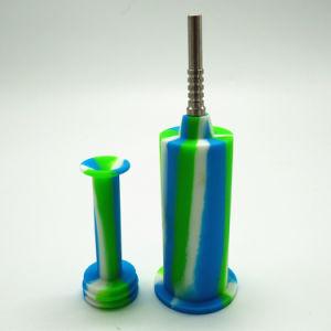 Shenzhen-eindeutiges Ölplattform-Trinkwasserbrunnen-Silikon-rauchendes Wasser-Rohr-Rauchweed-Rohr