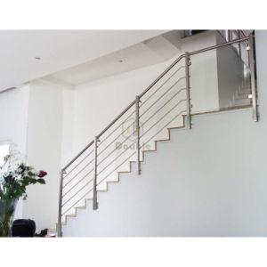 Balustrade d\'escalier d\'acier inoxydable de système à rails de ...