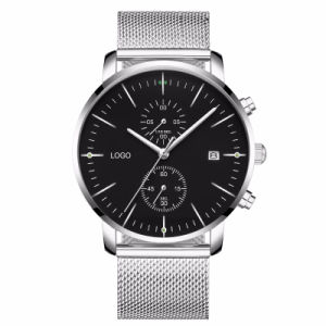 La banda de malla de logotipo personalizado Men's Classic reloj cronómetro