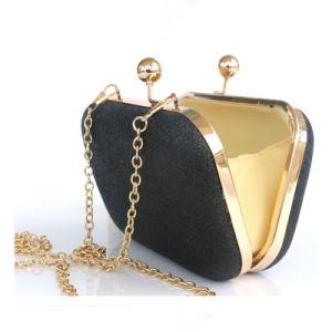 Classic brillant designer de mode de PU Mesdames soir sac d'embrayage avec la chaîne