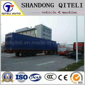 Lastkraftwagen- mit Kippvorrichtungschlußteil-Rückseiten-Speicherauszug-Schlussteil seitlich, Schlussteil mit Zylinder China-Hyva halb spitzend