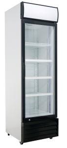 400L de refrigeración dinámica vertical refrigerador vitrina de la puerta de vidrio