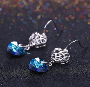 製造の卸売925の銀製の水晶イヤリングの方法宝石類