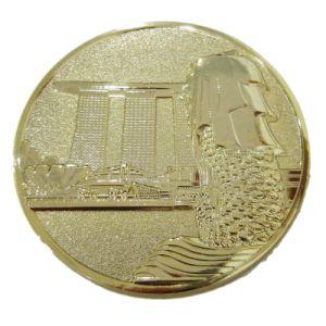 Kundenspezifisch getroffene Bronzesandstrahlen-Goldandenken-Münze mit kundenspezifischem Firmenzeichen (119) sterben
