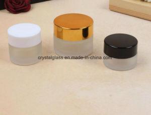 5-100g de berijpte Kleine Kosmetische Kruiken van de Room van het Gezicht van het Glas
