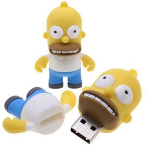 승진 선물 열쇠 고리를 가진 주문 로고 섬광 USB