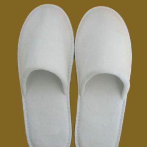 Pantoufles en molleton de coton à 100 % pour les hôtels SPA utilise (JRD730)