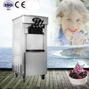 Servir suave de alta calidad de la máquina de helados en la fábrica.