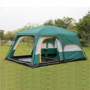 BlueBay Tent Mayoreo 8-10 personas Oxford Waterproof portátil doble capa Dos habitaciones Familia al aire libre Fiesta Camp Tent para la playa