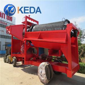 Móvil Planta de lavado de oro aluvial Trommel en venta