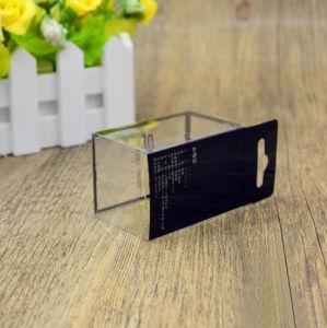 Casella impaccante di plastica pieghevole del soffio di polvere della radura su ordinazione di marchio