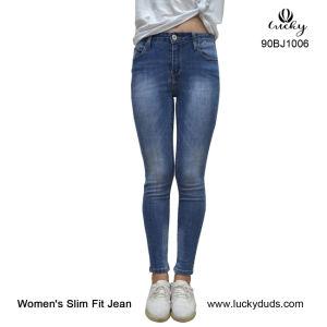 Jeans in de Bulk Blauwe Vrouwen van de Jeans van het Denim Magere